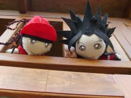Bill and Tom Kaulitz Plushies by VilleVamp