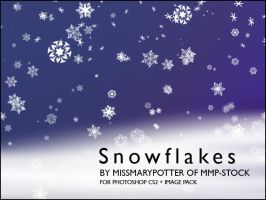 FREE BRUSHES, Snowflakes IMGPK by mmp-stock