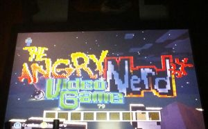 The angry video game nerd logo pixel art by Ah22783
