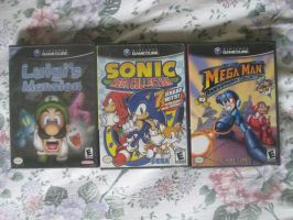 Some GameCube games I borrowed by T95Master