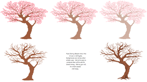 Cherry Blossom Pixel Trees by Cherieosaurus