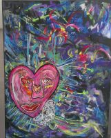 Her Heart 24x36 Acrylic on Canvas by MsWritten