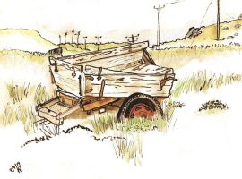 Abandoned Peat Cart by merearthling