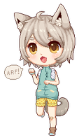 AT: Junichi pixel chibi by Riukkii