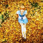 Mako in the fall leaves by HinoteIchimaru