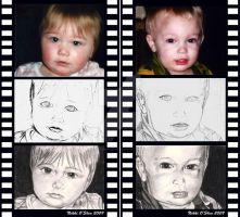 Childrens Portraits Process by DragonPress