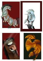 Horse cards by QueenOfTheAntz