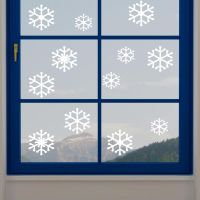 Snow Flake Window Cling Stickers by mirrorin1