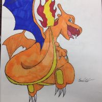 Flying Charizard! by FantasyRebirth96