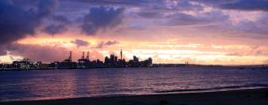 Auckland New Years Sunset by wishez