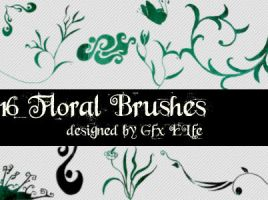 Floral Brushes No 2 by gfx-elfe