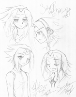 Yoh Sketches by LoveofAngels
