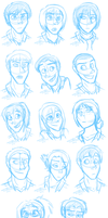 SnK Sketchdump by JustAutumn