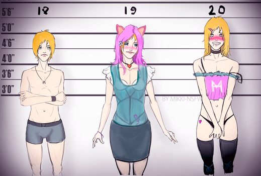 Mikki's Age progression by Mikki-NSFW
