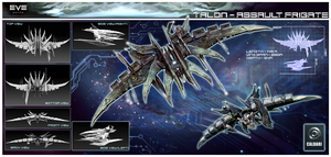 EVE: TALON ASSAULT FRIGATE by chermilla