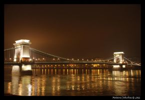 Chain Bridge Budapest by ballzenator