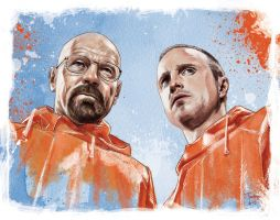 Walt White and Jesse Pinkman by tsantiago