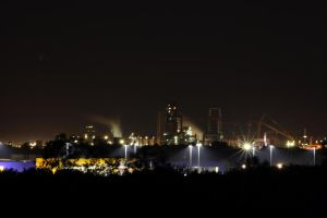 industrial area at night by FreSch85