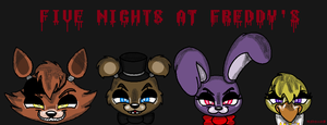 Five Nights at Freddy's Characters by TheAnthroPony