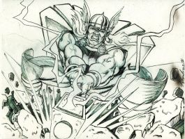 Classic Thor Pencil sketch by WEDMER