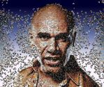 Goldie photo mosaic by Mosaikify