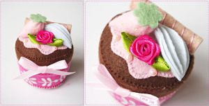Fuchsia Rose Chocolate Cupcake by bibiluv