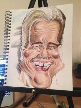 Process: Arnold Schwarzenegger Caricature 4 of 10 by AcrylicInk
