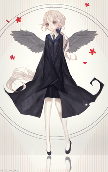 Ivory Raven by Witchere