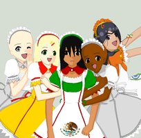 Hetalia Maiden Collab~ by The-Rollinn-Girl