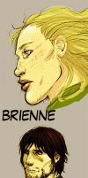 Brienne, bronn, Daario by Pojypojy