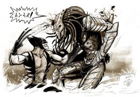Predator Beat Down by deralbi