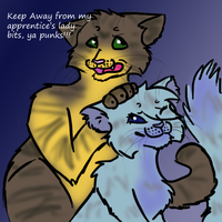 Sparrowfrost and Relicpaw by TangledInInk