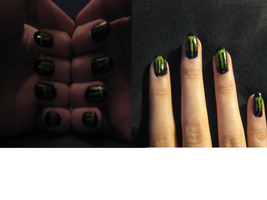 MonsterEnergy nails by lowlance