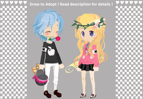 Draw to Adopt - Cutie Couple [CLOSED] by ReddAdopts