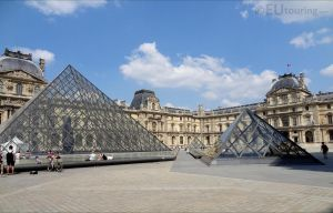 Multiple Pyramids beside the Louvre Museum by EUtouring