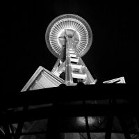Space Needle At Night by RachelDS