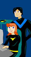 Nightwing and Batgirl by TXToonGuy1037