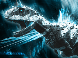 Awakened Carnotaurus Wallpaper by guildedwings