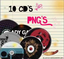 1O Cd's PNG by lilia-kltz-schfr3