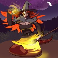 Witch Transformation by FicusArt