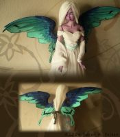 New Wings - Blue Green Fairy by TheMushroomPeddler