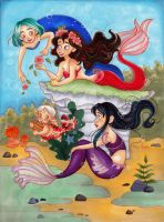 Mermaids Playtime by My-Anne