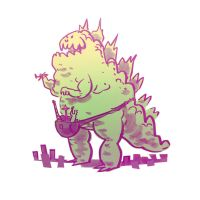Fannypack Godzilla by bearmantooth