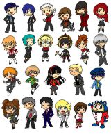 SMT-Persona 3 and 4 charakeys by OrangeTablet