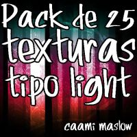 Pack 25 Texturas tipo Light by CaamiMaslow