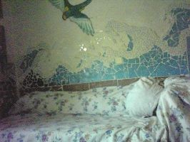 was asleep beside the sea -mosaic -decoration by AnnarXy