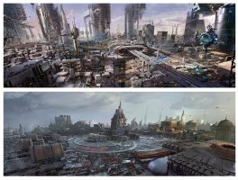 sci fi cities 2 by neisbeis