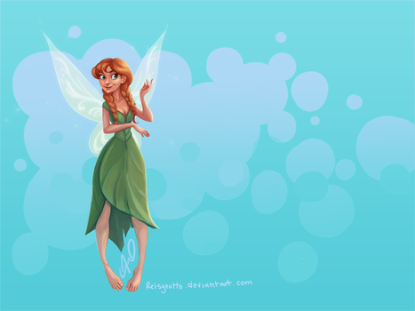 Frozen Fairy Princess Anna by relsgrotto