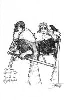 Jon Snow and Samwell by CreateThirteen