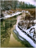 Winter river by narare